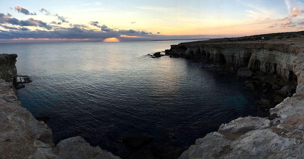 End Sea Cyprus Cliff First Eyeem Photo