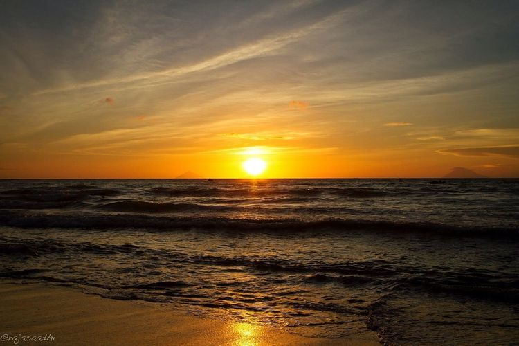 sun goes down..