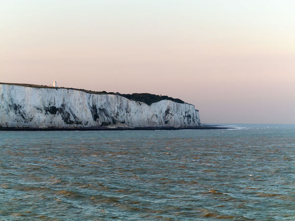 Beauty In Nature Cliffs Dover England Idyllic Landmark Light Tower Nature Non-urban Scene Norht Sea Place Of Interest Scenics Sunset Tourist Destination Tranquil Scene Tranquility Water White Cliffs  White Cliffs Of Dover