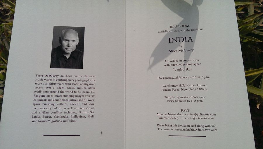 I was invited for Stevemccurry book launch Stevemccurry's India RaghuRai Magnumphotos