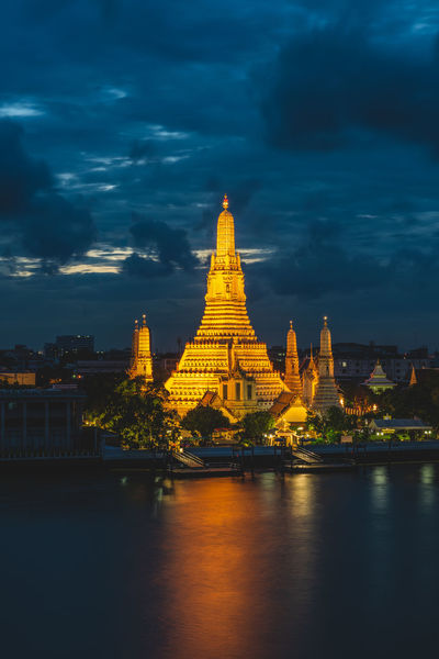 Thailand Ancient Civilization Architecture Building Exterior Built Structure City Cloud - Sky Outdoors Place Of Worship Religion Sky Tourism Travel Travel Destinations Traveldestination Watarunbangkok Waterfront