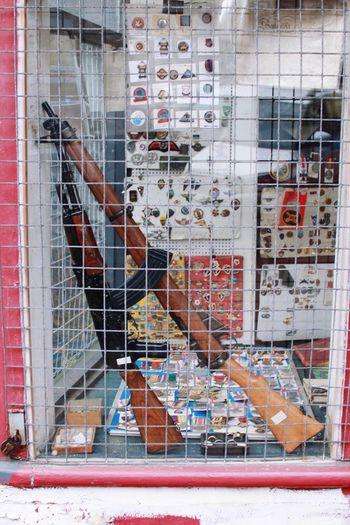 Gun Guns AK47 Shop Shop Window Grill Memorabilia History Junk Secondhand Used