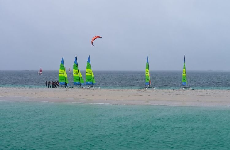 Les Glenan Beach Horizon Over Water Island Kitesurfing Lifestyles Real People Sailboat Sand Sea Sport Water