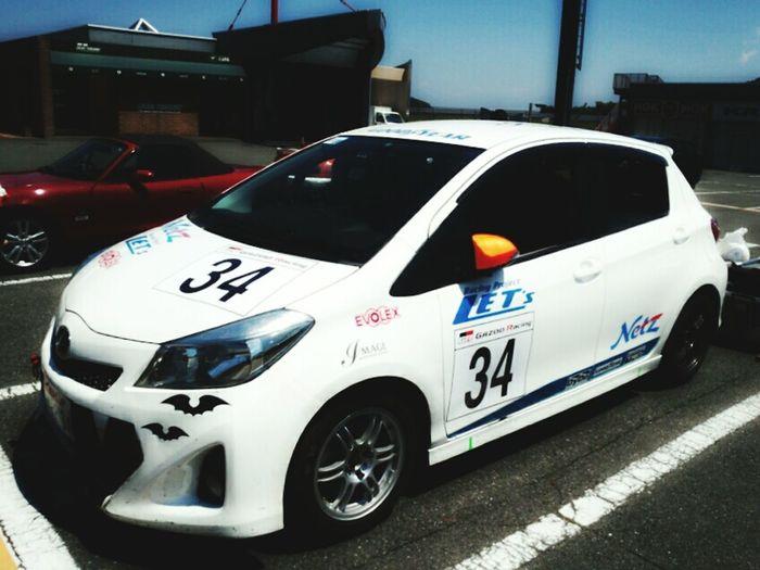 渡辺圭介選手も練習中! Car Circuit Motegi Japan Vitz Toyota