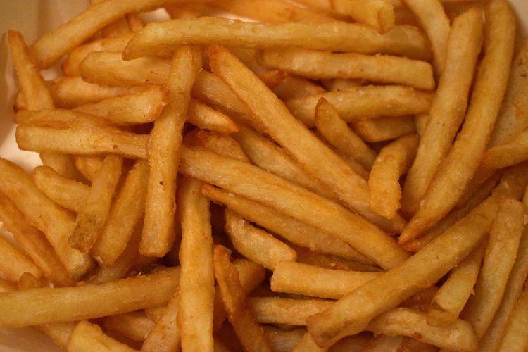 Full frame shot of fries