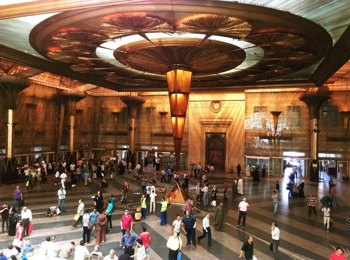 Cairo Egypt Cairo Railwaystation Large Group Of People Indoors  Day People Architecture Adult EyeEm Selects