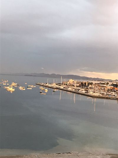 Alicante, Spain Mar Menor Water Sea Sky Cloud - Sky Nature Beauty In Nature Tranquility No People Land Scenics - Nature Outdoors Beach Travel Destinations Reflection Sailboat