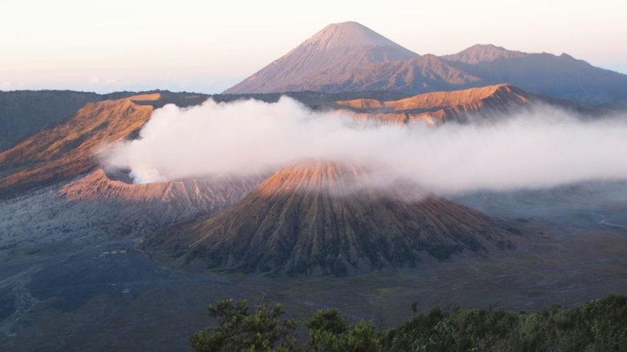 Mountain Scenics - Nature Sky Nature Landscape Outdoors INDONESIA Bromo Bromo Mountain Blue Sky Montain View Mountain Peak Beauty In Nature Tranquil Scene Tranquility Non-urban Scene Environment No People Cloud - Sky Mountain View Sunrise