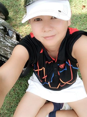 Self Portrait Around The World Golf Is My Life ⛳️ Ampai Jangbumrung 🏌 Selfie ✌ Self Portrait Portrait Of A Woman Faces Of EyeEm Elegance Everywhere Hello World Color Portrait