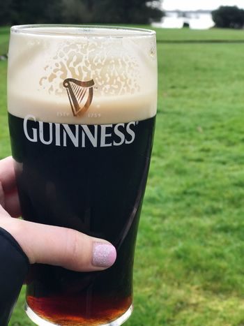 Ireland Day Outdoors Tranquility Water Close-up Human Body Part Holding Celebration Guinness Poetry In A Pint Lough Rynn Drink Pint Beer IPhoneography