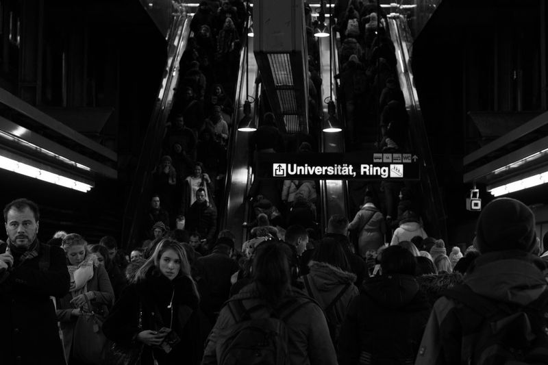 Rush Hour. City Crowd Escalator Large Group Of People Lifestyles People Real People Subway Subway Station The Street Photographer - 2017 EyeEm Awards Underground Underground Station