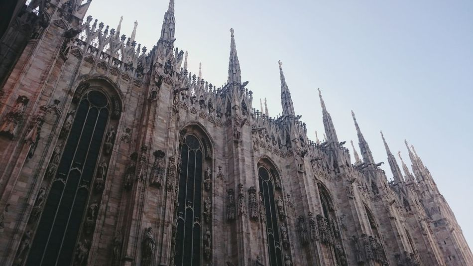 Milan Italy Church Architecture Cathedral Gothic Style Duomo Di Milano History Medieval Milano Italy Low Angle View Church Architecture Building Exterior Religion Place Of Worship Built Structure Spirituality Cathedral Gothic Style Arch Milan Cathedral Outdoors Medieval Sky Tall