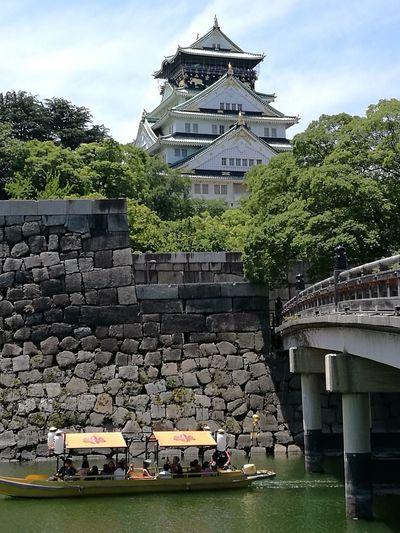 2017 oosaka-jou Japanese Castle Architecture Bridge - Man Made Structure Built Structure Travel Destinations History Building Exterior