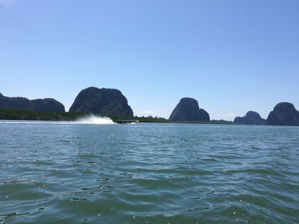 Island and sea. Sea Outdoors Water Scenics Beauty In Nature Nature Travel Destinations Rock - Object Sky Island Sea And Sky The Purist (no Edit, No Filter) Thailandtravel Panyee Island