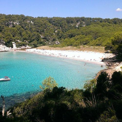 Dia de playa: Platja Trebaluger ☀🌴🐬 Menorca Trebaluger