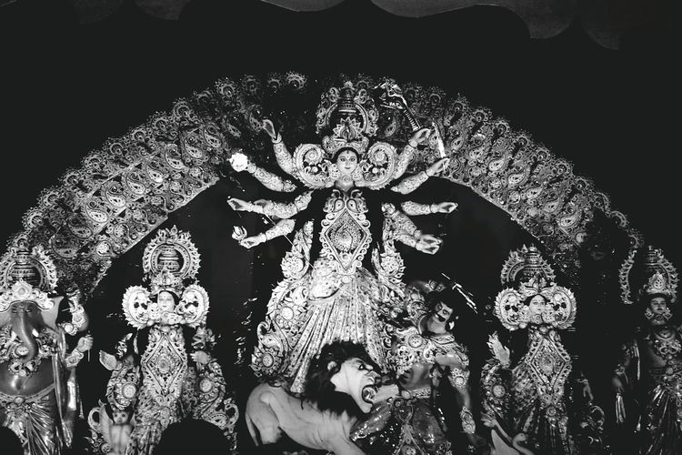 The Durga Dramatic Angles Creativity Decoration Arrangement Culture Place Of Worship Architectural Feature The Culture Of The Holidays Idols