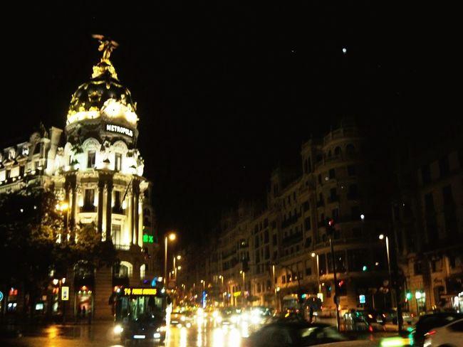 Madrid Night Lights Night View Me Around The World On The Road On My Way SPAIN Light