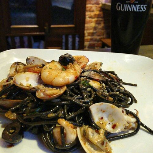 Squid Ink Pasta Guinness Guinness Draught Guinnesslover Patio De Tapas