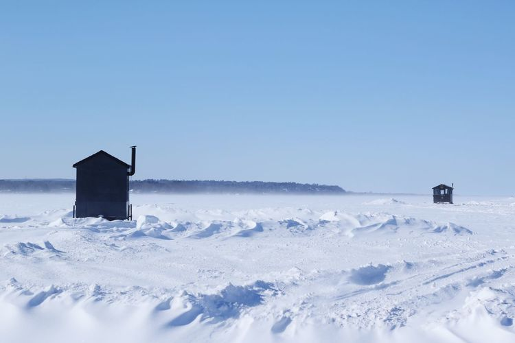 Winter Snow Cold Temperature Weather Nature Tranquility Clear Sky Outdoors Frozen Shades Of Winter