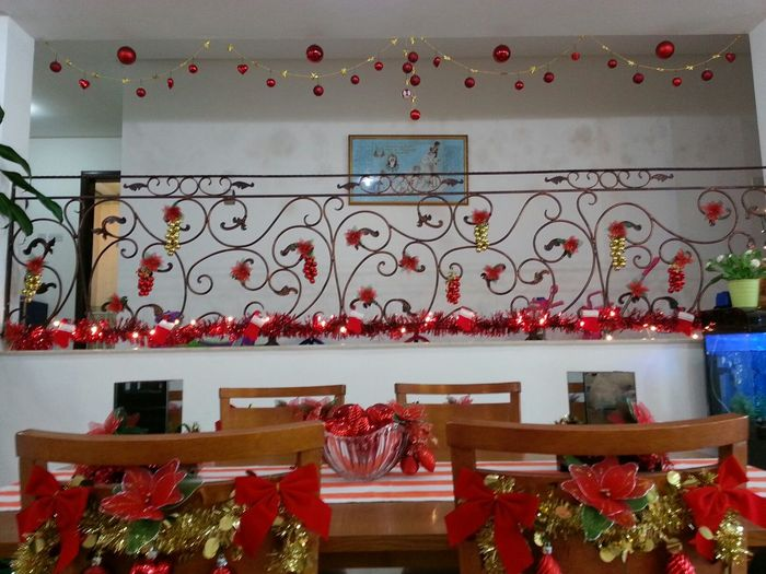 the Christmas decorations I made for my friends house! like it! View