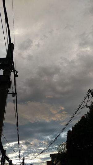 ☁ Dusk Cloud - Sky Cloudy Electricity Pylon Cable Tall Ship Electricity  Silhouette Sky Cloud - Sky Storm Cloud