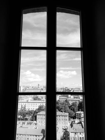 Explorer Sky Italy Indoors  Window View Sky And Clouds Sky_collection Horizon Closed Window  No People EyeEm Selects Architecture Architecture_collection Wall Exploring Exterior Interior Horizon Bw Bw_collection BW_photography Bwphotography