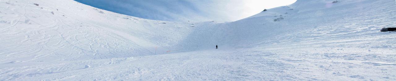 Alone Alps Cold Cold Temperature Mountain Panorama Ski Snow Winter