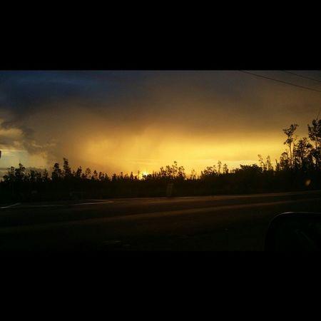 Appreciate the simple things in life.. Sunrise Rain Sunshine Bigislandlove Beautifulxhi Puna East_side Goodmorning Luckywelivehawaii Hi_life Nofilter No_edits NaturalBeauty