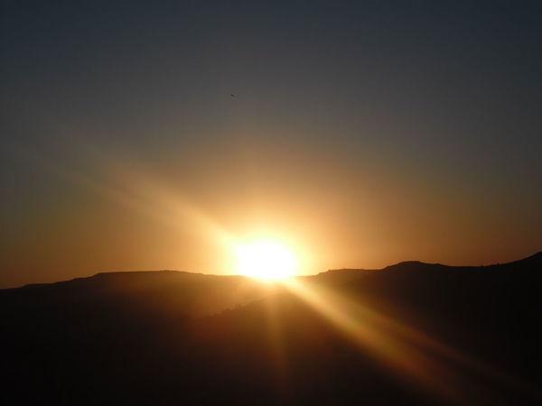 Something shiny and orange Maseru Sunset Silhouettes