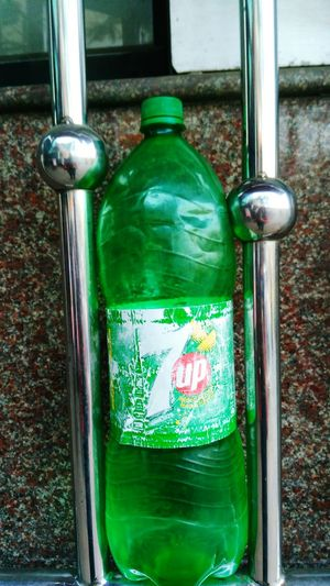 Bottle Holder Glass - Material Window Green Color No People Close-up Day