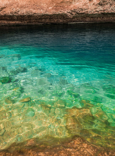 Oman Chapters Water Sea No People Nature Day Scenics - Nature Beauty In Nature Rock Turquoise Colored Underwater Rock - Object Tranquility Solid Outdoors Transparent Land Tranquil Scene Blue Waterfront Purity Shallow