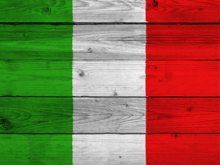 Italian flag Backgrounds Close-up Day Full Frame Green Color Indoors  Italy Italy Flag Multi Colored Nation No People Pattern Red Rome Rome Italy State Textured  Wood - Material
