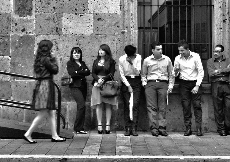 In line The Storyteller - 2014 Eyeem Awards NEM Street NEM Submissions NEM Black&white