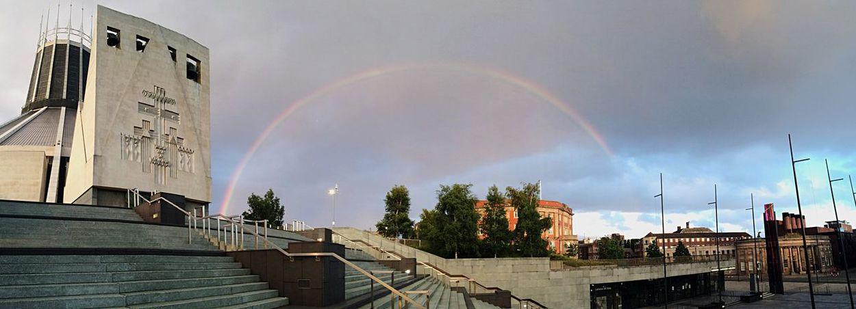 Rainbow... Rainbow Cathedral Liverpool
