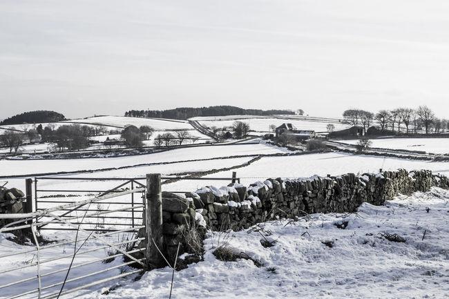 Winter landscape above Matlock, Derbsyhire Dales, Uk Beauty In Nature Blackandwhite Photography Cold Temperature Day Derbyshire Dales Landscape Landscapes No People Outdoors Rural Uk Landscape Sky Snow Winter Winter Landscape