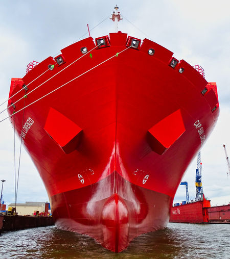 Close-up Mode Of Transportation Nautical Vessel No People Red Ship Transportation Water Waterfront
