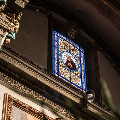 Religion Spirituality Place Of Worship Indoors  Architecture Low Angle View Built Structure Ornate Window No People Day Close-up MexicanTradition Mexican Culture Miracle Coyoacán Mexico City
