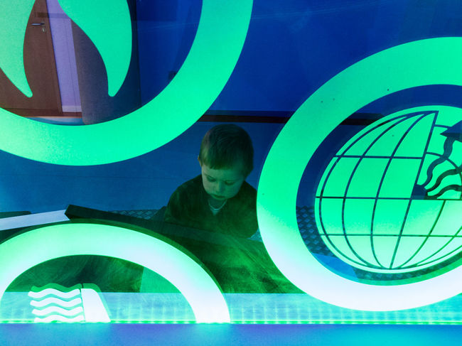 Envision The Future Boy Child Kid Darkness And Light Dark Office Glass Glasgow Science Centre  Green Color The Portraitist - 2016 EyeEm Awards Learning Light Real People The OO Mission