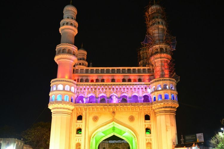 Charminar, Hyderabad Charminar Charminar The Pride Of Hyderabad Peace Peaceful Colors EyeEm Best Shots EyeEmNewHere EyeEm Selects Hyderabad Hyderabad,India Hyderabad Monuments Hyderabaddiaries Nightlights Nightphotography Midnight City Illuminated History Politics And Government Cultures Architecture Sky Built Structure HUAWEI Photo Award: After Dark #urbanana: The Urban Playground