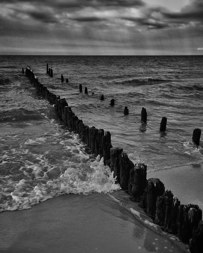 Polishbeach Baltic Sea Poland Sea Wave Beach First Eyeem Photo
