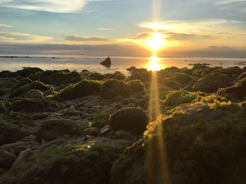 Siquijor Island Beauty In Nature Cloud - Sky Nature No People Outdoors Rock - Object Sea Sun Sunset Tranquil Scene Water