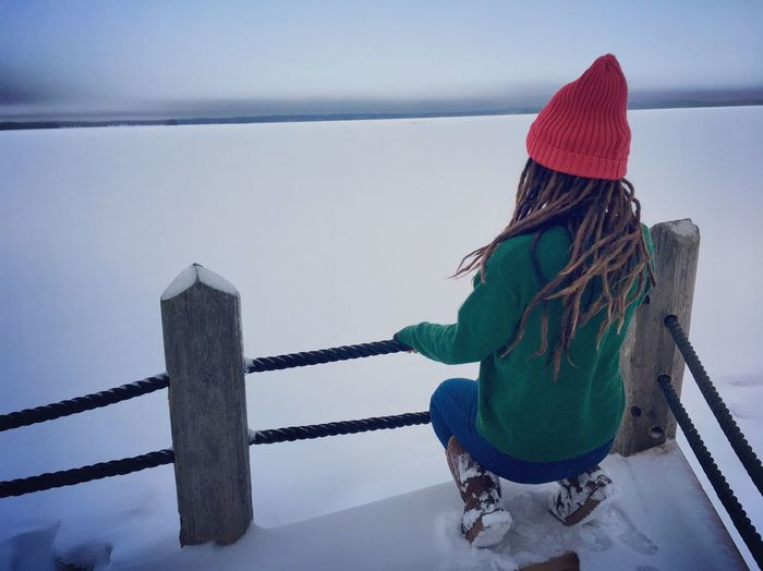 I will tell you what freedom is to me NO FEAR❤️ Dreadhead Dreads Just One Life Travel Born To Be Wild Dreadlocks Wild Free Lapland Suomi Finland One Person Winter Cold Temperature Real People Clothing Warm Clothing Nature Snow Winter Rear View Knit Hat Scenics - Nature Outdoors Hairstyle Nature My Best Photo