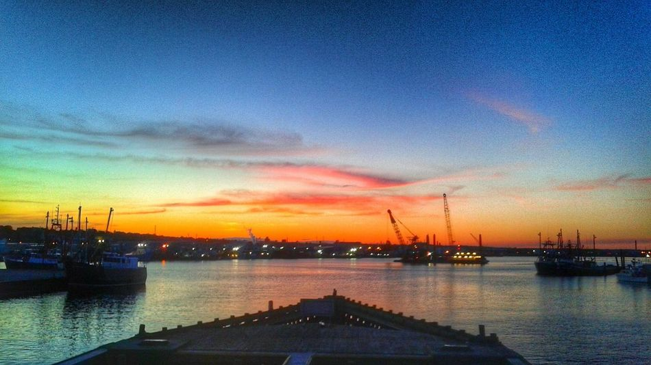 At the New Bedford / Fairhaven bridge Taking Photos Ocean Massachusetts Hello World Discover Your City EyeEm Best Shots - Sunsets + Sunrise Sunset_collection