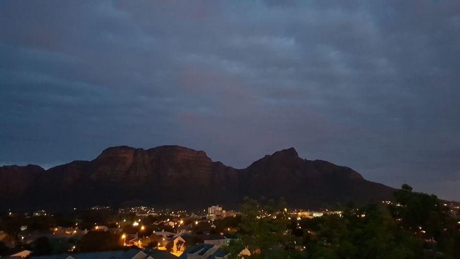 Sunrise Mountain Illuminated Sky Landscape