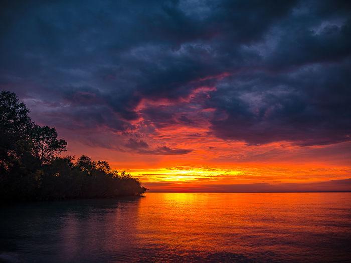 At Lake Michigan Dramatic Sky Sunrise