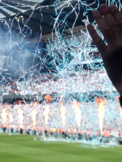 celebration champions Football Champions Manchester City Backgrounds Illuminated Window Close-up Grass Entertainment Firework - Man Made Object Sparks Smoke - Physical Structure Firework Display