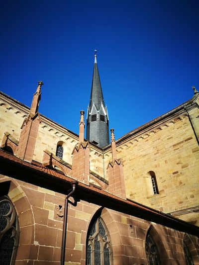 EyeEmNewHere EyeEm Best Shots Eye4photography  Kloster Maulbronn Maulbronn Kloster Good Evening City Clock Clock Tower Clear Sky Clock Face Sky Architecture Building Exterior Built Structure Place Of Worship Church Bell Tower - Tower