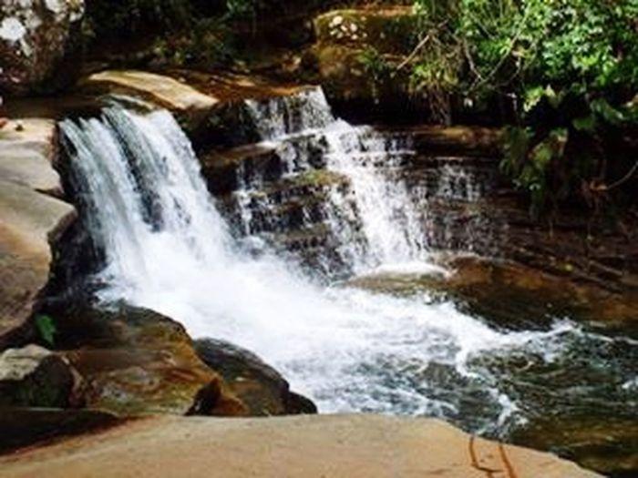 Cachoeira Sete Quedas. Sana Fall Waterfall Arraial Do Sana Nature