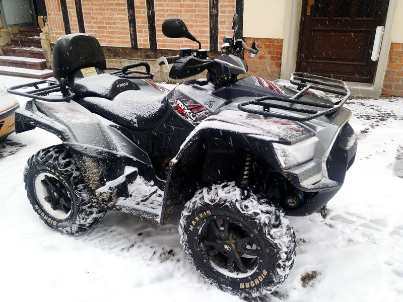 Kymco Maxxis First Snow Quad Made In Taiwan It's Cold Outside Wintertime Atv