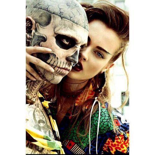 Zombieboy Beauty Today's Hot Look Rick Genest  ❤️?